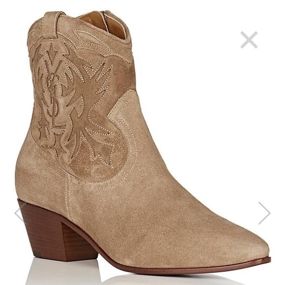 59154421c3c NWT Saint Laurent Rock 40 Suede Cowboy Boots NWT